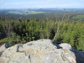 Ausblick vom Amtsfelsen bei der Fichtelberg-Joggingtour 2012