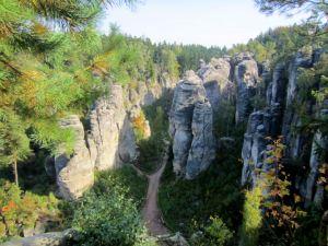 Joggingtouren im Böhmischen Paradies am 05.10.2013
