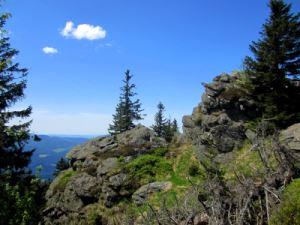 Am Osser beim Karl Jirosch Gedächtnislauf im Künischen Gebirge am 19.05.2013 mit Osser und Zwercheck